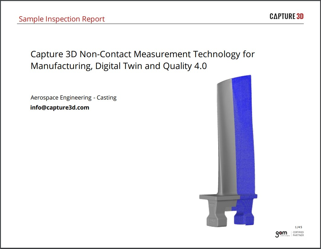 Sample Aerospace and Power Generation Airfoil Report